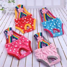 Dots Pet Dog Shorts Diaper Sanitary Physiological Pants Washable Female Short Panties Menstruation Underwear Briefs(China)
