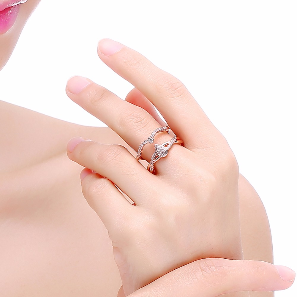 Aliexpress.com : Buy water wave open end ring for women double line ...
