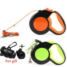 Retractable Dog Leash Nylon Extending Walking Reflective Leads Running Lead for Small Large Dogs With Dog Dispenser 10Ft 16Ft(China)