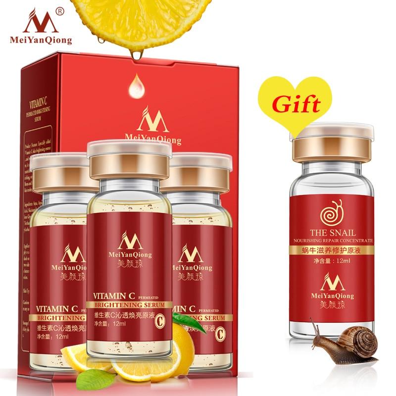 Buy 3 Get 1 Gift Vitamin C Facial Essence Remove Acne Pimples 10ml Anti Aging Whitening Moisturzing Serum Face Care VC Cream
