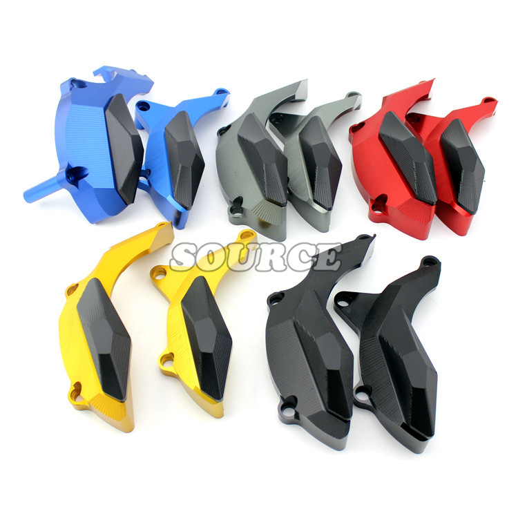 Motorcycle CNC Engine Cover Frame Sliders Crash Protector crash pad FOR yamaha yzf-r3 yzf-r25 yzfr3 yzfr25 yzf r3 r25 14 15 16 for yamaha yzfr25 r3 yzfr3 yzf r3 yzf r25 2014 2015 motorcycle accessories aluminum oil filler cover screw plug cap bolt blue