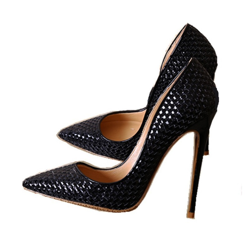2018 Newest Spring Pointed Toe High Heel Pumps Woman Shallow European American Black Silver Party Dress Shoes newest solid flock high heel pumps woman