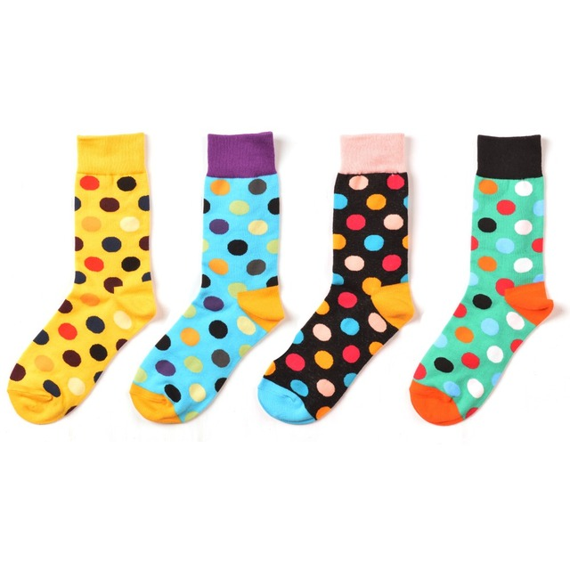 Jhouson 1 pair Colorful Men's Cotton Crew Funny Socks Watermelon Corn Spaceman Pattern Novelty Skateboard Socks For Gifts 1