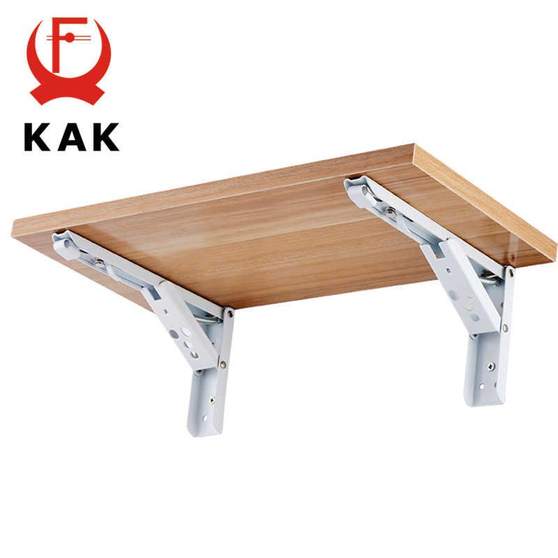 kak support d angle triangulaire pliant support resistant fixation murale reglable pour table en etagere materiel pour meubles 2 pieces