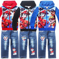 2016 Children's Clothing Sets for Spring and Autumn Baby Boy Suits Long Sleeve Cartoon Dog Zipper Hoodies+ Jeans 2pcs Suit Sets