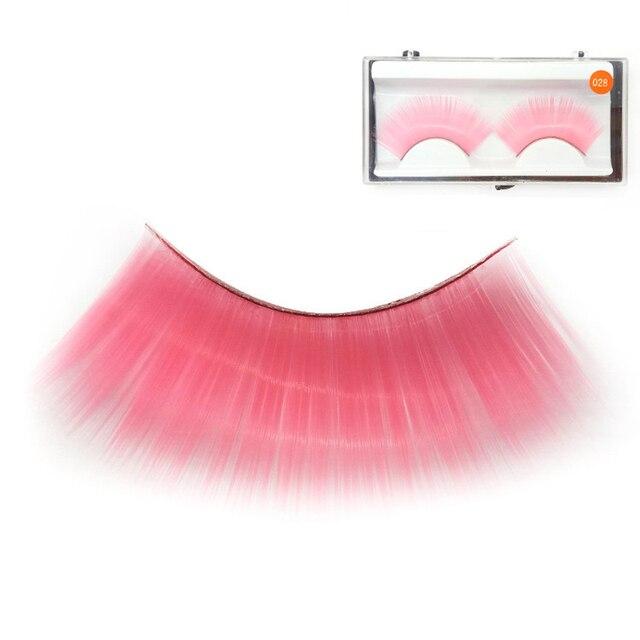 347efc5ba4b YOKPN Pink Fake Eyelashes Colorful Exaggerated False Eyelashes Stage Makeup  Drama Wear False Eye Lashes Quality Fiber