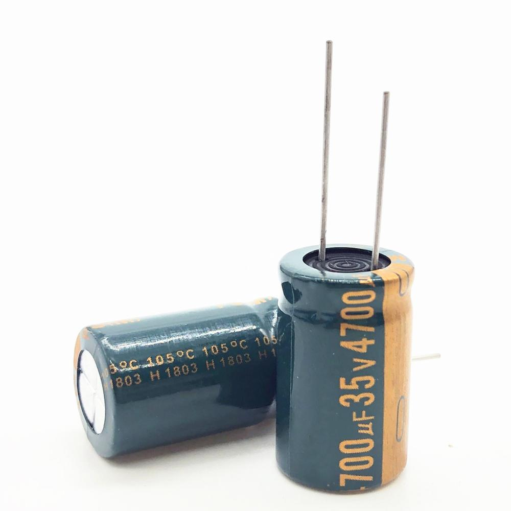 2pcs/lot 35V 4700UF High Frequency Low Impedance Aluminum Electrolytic Capacitor 4700uf 35v 16*25 20%
