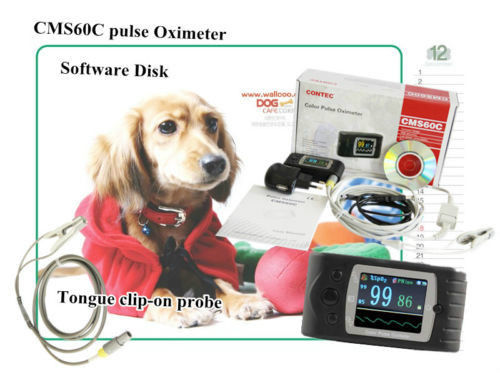 VET Handheld Pulse Oximeter SpO2 Monitor,veterinary,blood oxygen,CMS60C,Software cms p contec pc based usb connection pulse oximeter monitor free software heart rate pulse oxygen blood spo2 review test meter
