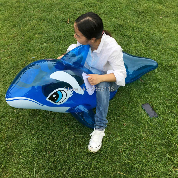 150cm Blue row bed swimming toys Inflatable whale Pool float life raft Summer