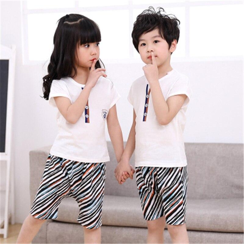 Boys Girls Clothing Sets Children Cotton T-Shit+Pants 2Pcs/Set Kids Casual Sport Suits Outfits Toddler Summer Clothes Suit D0008
