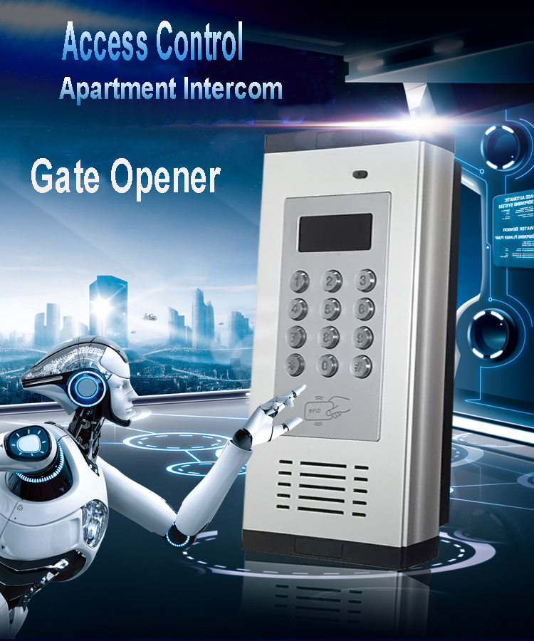 3G GSM Apartment Intercom Access Control System Support to Open Door by Phone Call RFID SMS Command Remote Control Gate Opener_F0