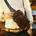 New Arrival Fashion vintage Crazy horse leather men bags men's vintage waist arm charm back bags man casual travel bag 9064