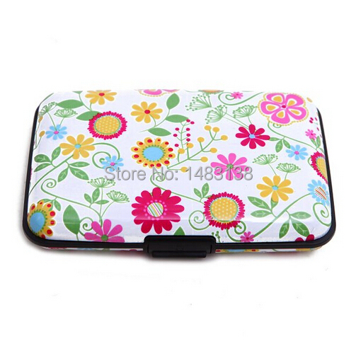 1 Unit RFID New Fashion Aluminum Wallet Credit Card Holder With RFID Protection Case