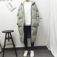 2016 Корейской зимой новый цветовой код в длинный отрезок сыпучих хлопка ватник с капюшоном женский толстые теплые