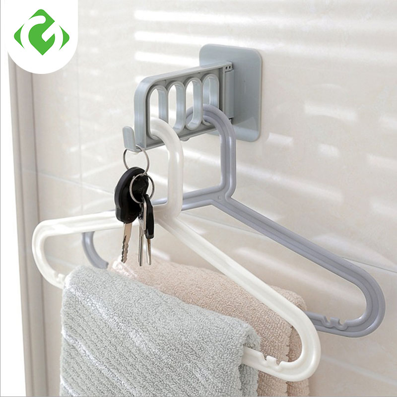 GUANYAO Foldable Key Decorative Hooks Multi-function Door Hooks Strong Adhesive Hanger Storage Rack Coat Hooks Creative Solid