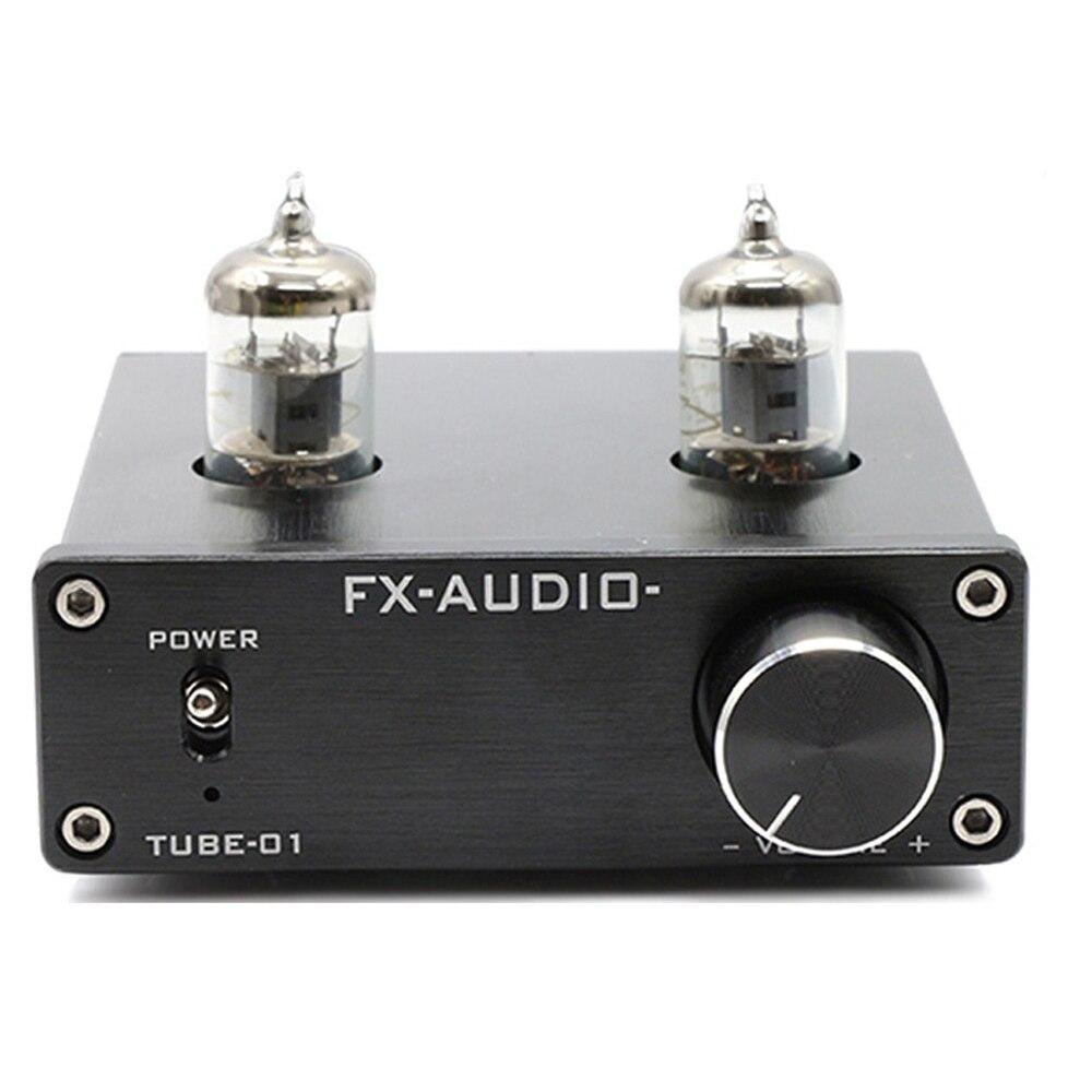 FX AUDIO TUBE 01 DC12V 1A Bile Preamp 6J1 JAN 5654W Tube Amplifier HIFI Audio Preamplifier