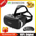 VR SHINECON 2.0 3D Glasses Google Cardboard HD VR Glasses VR BOX BOBO VR Goggles + Bluetooth Remote/ Gamepad Controller