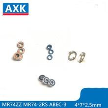 2015 hot!mini bearing 10PCS MR74ZZ L-740ZZ bearings P5 4*7*2.5  deep groove ball bearings Free shipping цена в Москве и Питере