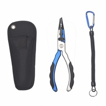 New design Aluminum Alloy Fishing Pliers  84g 17.7cm Line Cutter holder Multifunctional Fishing Tools with sheath