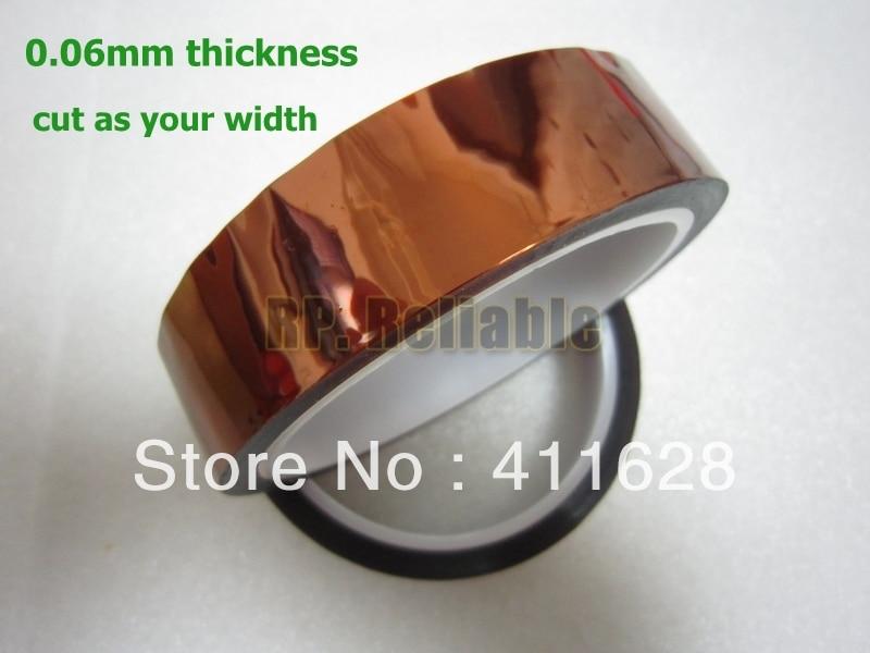 Бесплатная доставка, 1x 22 мм * 33 м * 0.06 мм высокой Температура противостоять Полиимидные Плёнки Клейкие ленты клей Клейкие ленты для BGA, LED DIY