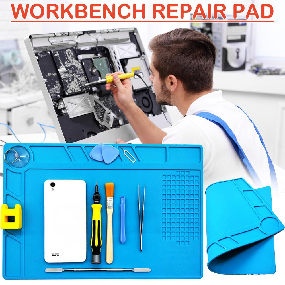 Work Mat Maintenance Workbench Magnetically High Temperature Resistant Silicone Pad Heat Insulation Iron Welding Table Cushion