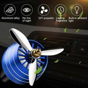Image 4 - Nước Hoa ô tô Máy Khuếch Tán Lọc Không Khí Đèn LED Không Quân 3 Lỗ Thông Hơi Ổ Cắm Kẹp Ô Tô Trang Trí Cánh Quạt Hương Thơm Mùi Vật Trang Trí