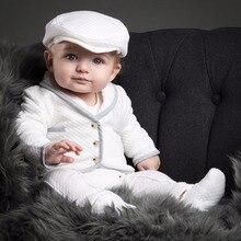Осенний комплект одежды для новорожденных мальчиков, хлопковая футболка и штаны, комплект из 2 предметов, платье на день рождения, комплект одежды из хлопка для детей 0-4 лет