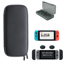 5 in 1 Kit Carrying Case Bag+Tempered Glass Film Protect+Controller Silicon Case+Thumb Grips Caps+Card for Nintendo Switch