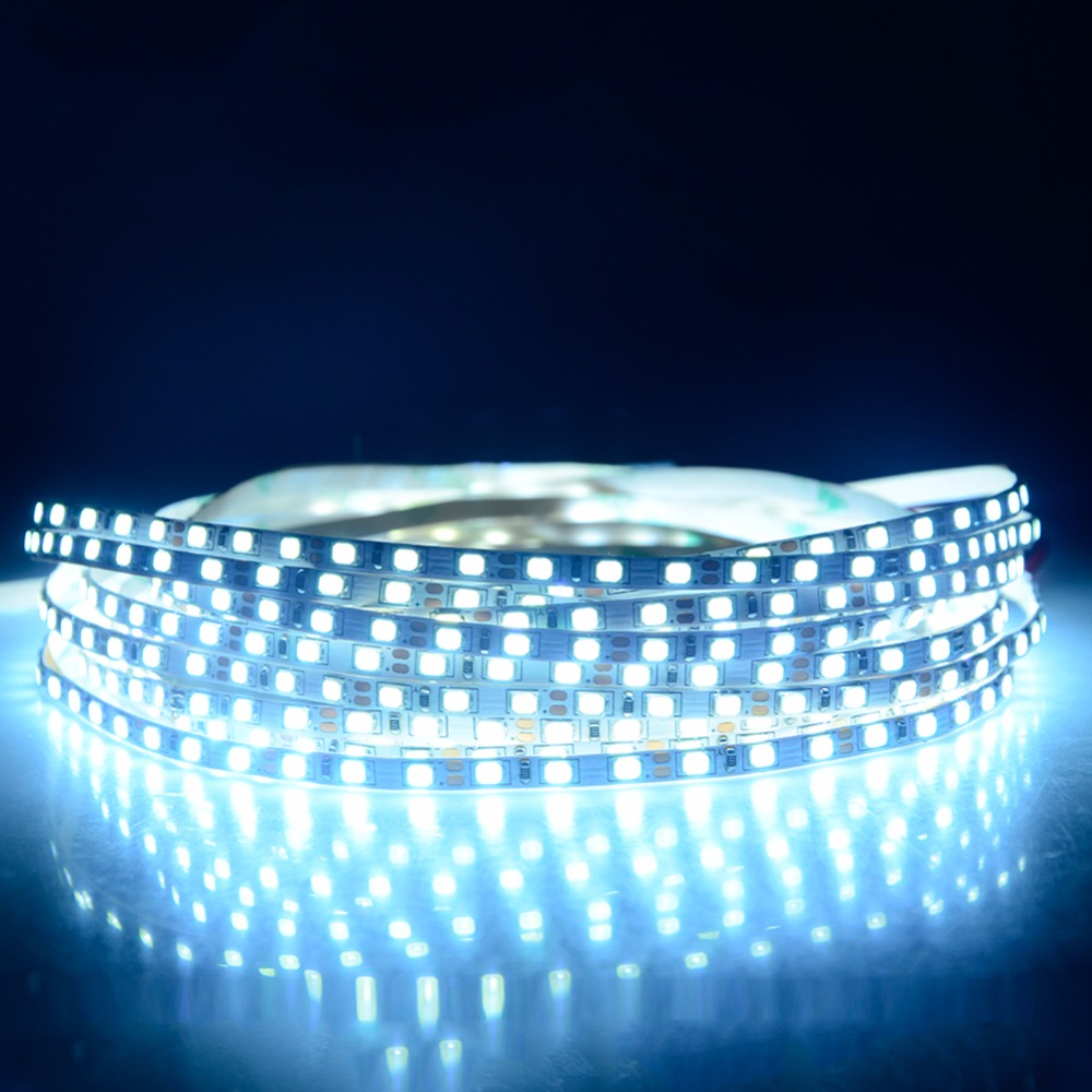 outlet store 0939b 79562 US $6.99 30% OFF|2835 Narrow LED Strip Light 5 Meters 600 LEDs High Lumen  Diode Ribbon Tape Lamp 5mm Width White Red Blue Green Golden Ice Blue-in  LED ...
