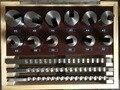 21pcs Keyway Broach Tool Set 10mm 12mm 14mm Broaches 32-50 Bushings Shims HSS Cutting Tools for CNC Machine