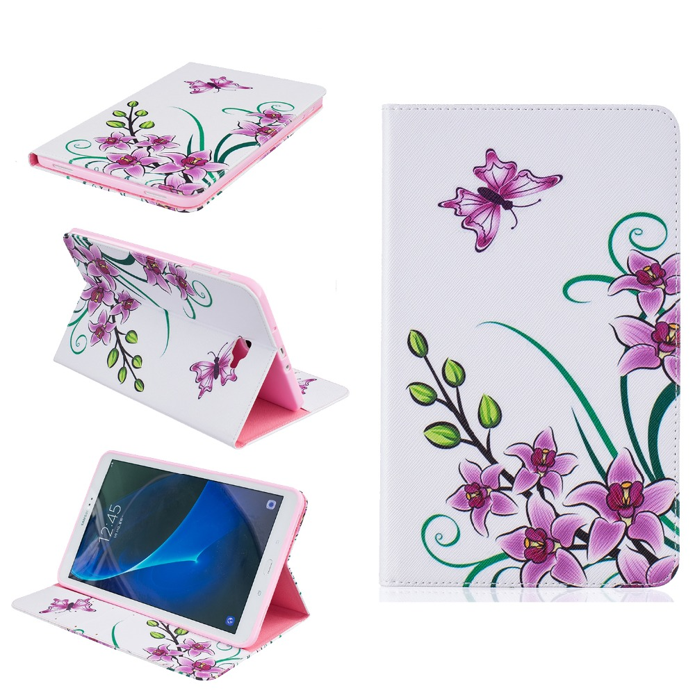 цены Tablet Case for fundas Samsung Galaxy Tab A 10.1 2016 T580 Cover for coque Samsung Galaxy Tab A 10.1 T580 T585 Case with Stand