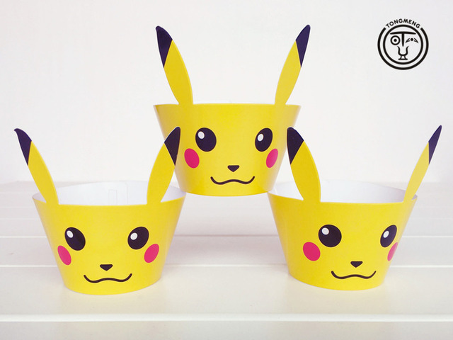 Aliexpress.com : Buy 12pcs Cartoon Anime pokemon go Pikachu cupcake ...