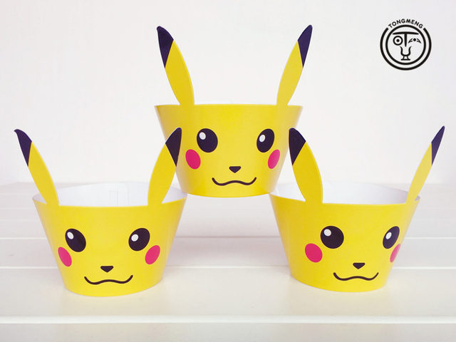 12pcs Cartoon Anime Pokemon Go Pikachu Cupcake Wrers Decoration Wedding Party Favorscup Cake Toppers Picks Supplies Aw 0081