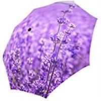 Bouquet of Purple Lavender Flowers Foldable Folding Parasol Sun/Rain Umbrella Anti UV Protection pocket Umbrella for Ladies