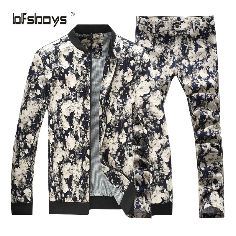 2016 new fashion Mens Luxury brand high quality Jacket pants set Hoodies cardigan men s casual