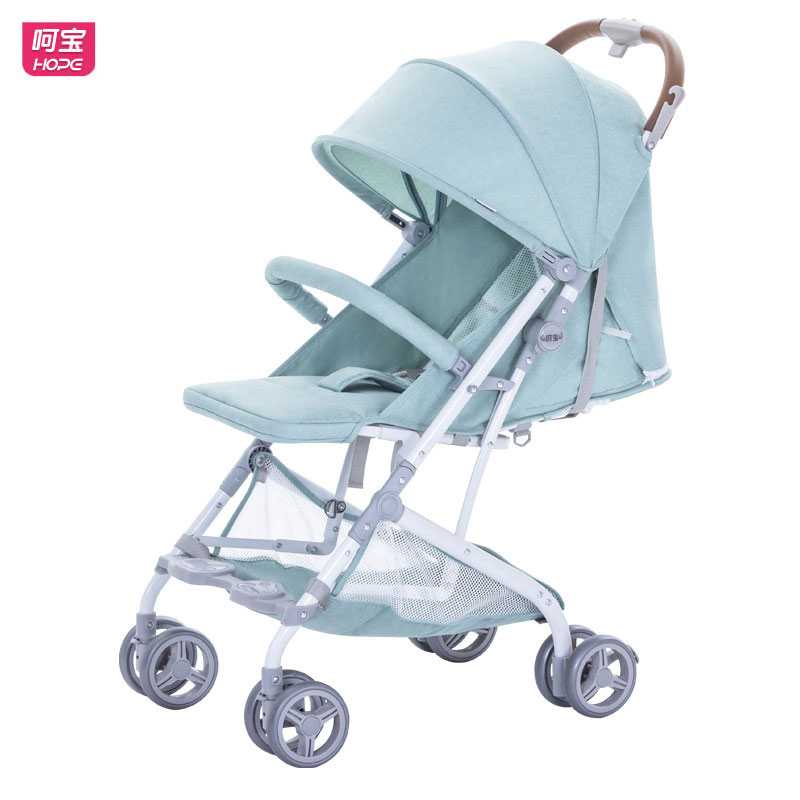HOPE High View Super Light Baby Stroller Pram Portable Foldable Travel Boarding Car Newborn Baby Carriage Lie Flat Pushchair