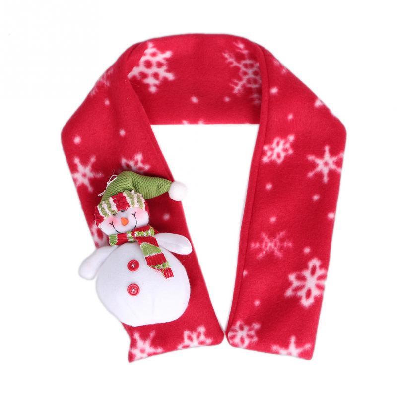 Aliexpress.com Comprar Navidad año nuevo Unisex niños bufandas bufanda hecha punto del hilado muñeco de nieve copo de nieve Santa Claus silenciador niños
