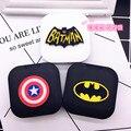 LIUSVENTINA DIY acrylic cute batman American Captain contact lens case for glasses spectacle case for color lens