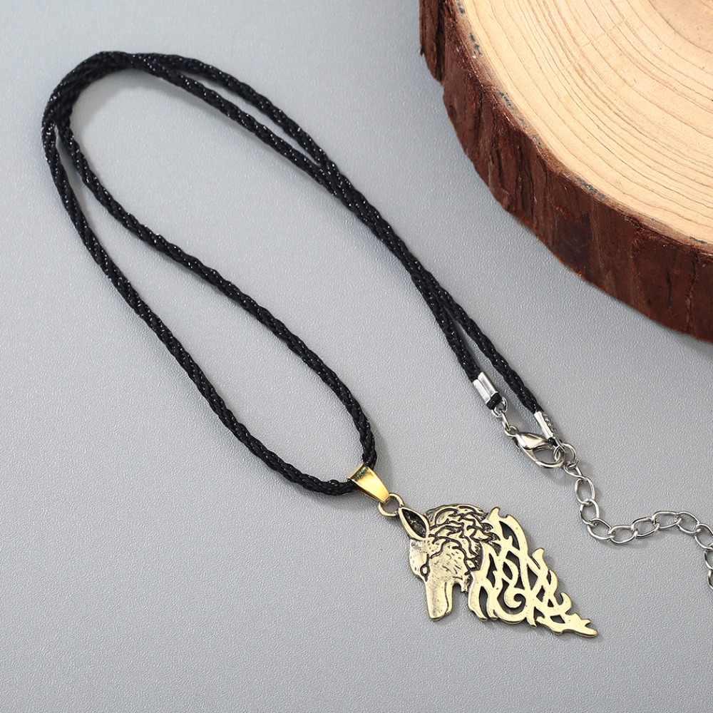 CHENGXUN Viking Wolf Mit Keltischen Knoten Antike Religiöse Anhänger Halskette Männer Männlichen Mode Punk Kühlen Jungen Collier