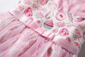 Image 4 - Cielarko Princess Girls Dress Pink Birthday Wedding Party Baby Dresses Fancy Candy Cupcake Children Frocks for 2 10 Years Girl