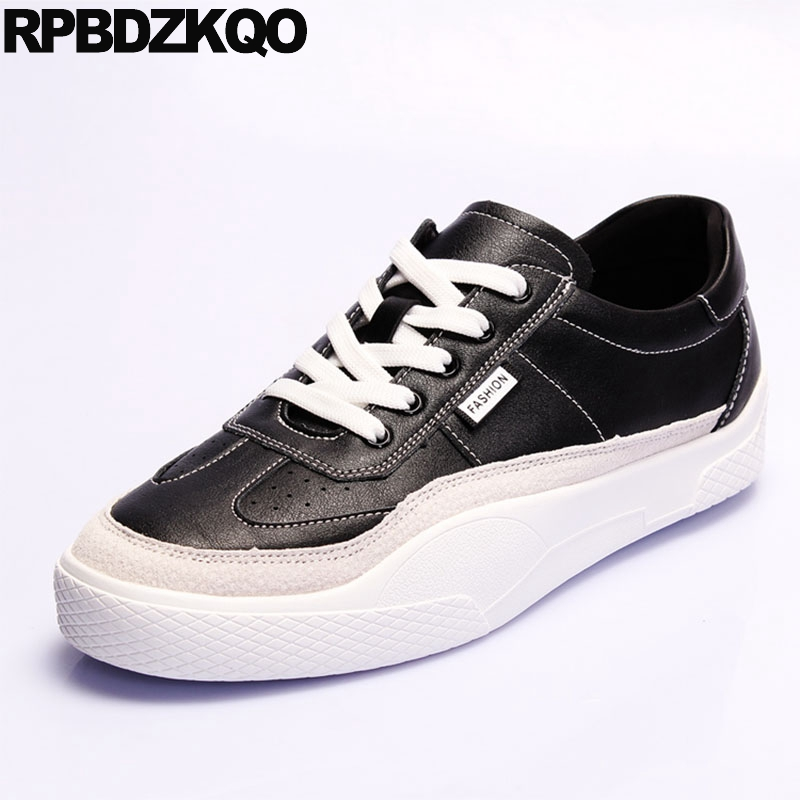 Designer Lace Up Comfort White Trainers