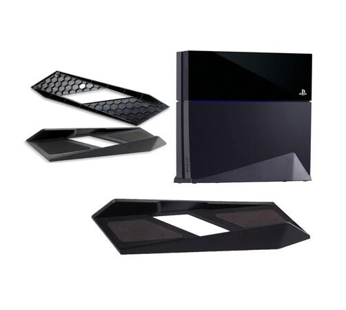 US $6 48 21% OFF|Black Vertical Holder Dock Mount Cradle Magic vertical  Stand Support Cooling Base For Sony Playstation 4 PS4 PS 4 Console-in  Stands