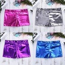 Детские гимнастические шорты для девочек-подростков; яркие шорты для балета и танцев; обтягивающие короткие штаны для занятий спортом; дышащие кожаные штаны для детей от 6 до 14 лет