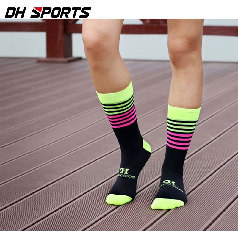 Men Sports Cycling Socks Compression Mountain Bike Breathable Ankle-high Socks