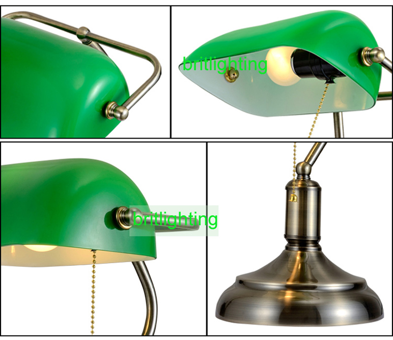 antique bronze desk lamps traditional table lamps reading light green glass  Adjustable Task Desk Lamp brass lighting bedroom LED-in Table Lamps from  Lights ... - Antique Bronze Desk Lamps Traditional Table Lamps Reading Light
