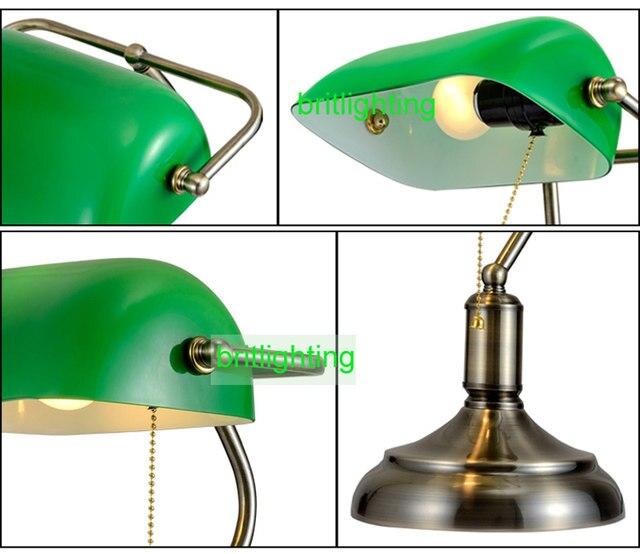 antique bronze desk lamps traditional table lamps reading light green glass  Adjustable Task Desk Lamp brass lighting bedroom - Online Shop Antique Bronze Desk Lamps Traditional Table Lamps