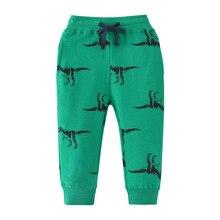 Dinosaur Print Boys Long Pants for Kids Sports Sweatpants Spring Children Sport Trousers Winter Child Pants Clothes