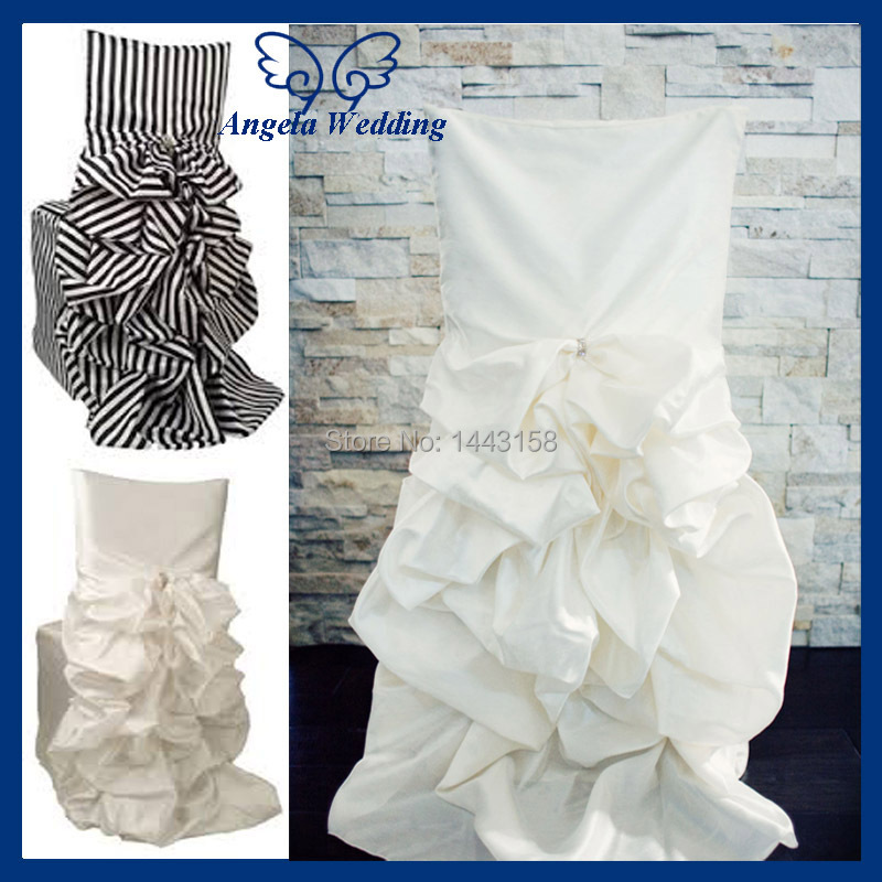 wedding chair covering white