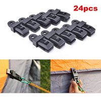 24X-reusable toldo da barraca de encerado clipe heavy duty alicates camping survival ferramenta durável qualidade super bom produto de nylon da barraca