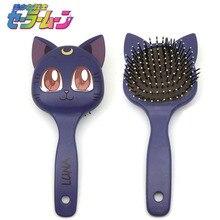 Сейлор Мун luna cat расческа для волос кисточки Туалетная расческа милые интимные Аксессуары Комплект Высокое качество подарок